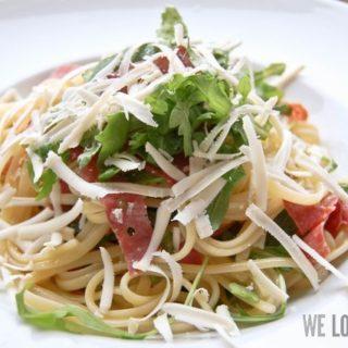 Nachgekocht: Pasta Salami e Ricotta con Rucola