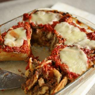 Nudelschneckenauflauf mit Tomaten und Mozzarella