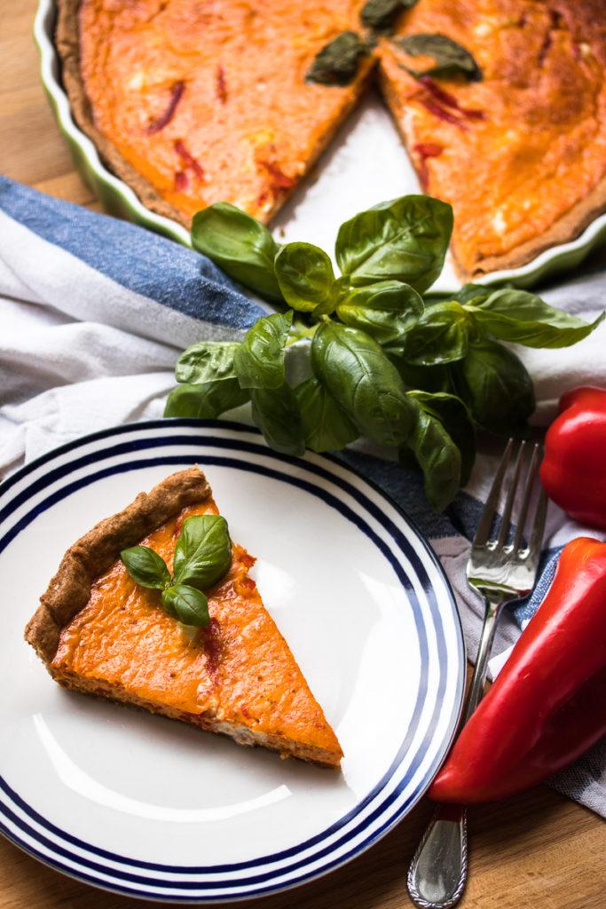 Tarte mit gerösteter Paprika und Ziegenkäse