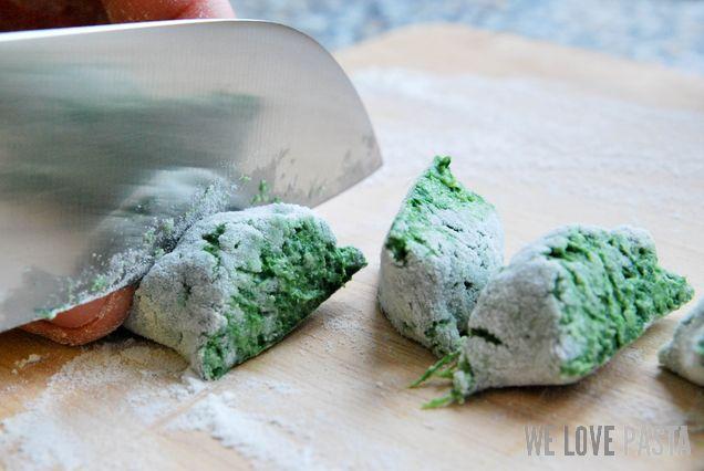 Spinat Ricotta Gnocchi portionieren