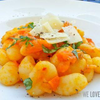 Idee: Gnocchi mit gelber Tomatensauce