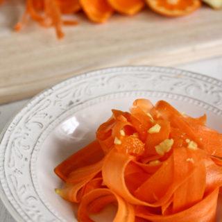 Karotten-Mandarinen-Salat mit Ingwer // Mini-Boost fürs Immunsystem