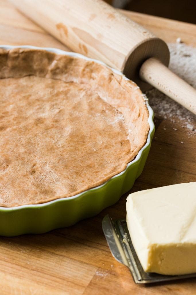 Dinkel-Vollkorn-Mürbeteig - ein Grundrezept für Quiches und salziges Gebäck