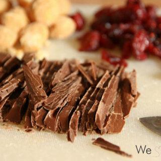 Macadamia-Cranberry-Schokoladentafeln