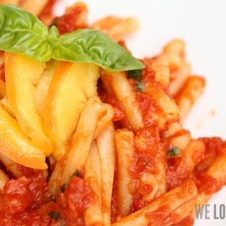 "Pasta ""Pescarrabiata"" oder: all'Arrabiata trifft Pfirsich"