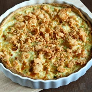 Zucchini-Feta-Tarte mit doppelt Parmesan