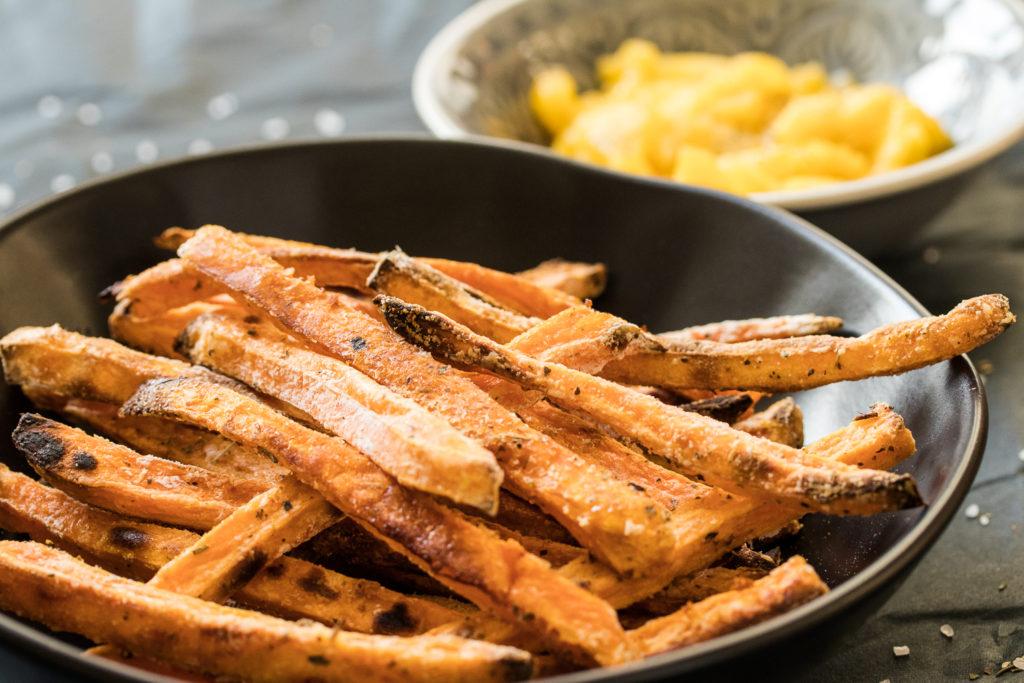 Süßkartoffelpommes Aus Dem Ofen Extra Knusprig