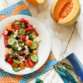 Melonen-Feta-Salat (pimped up!) aka Zurück-in-den-Urlaub-Salat